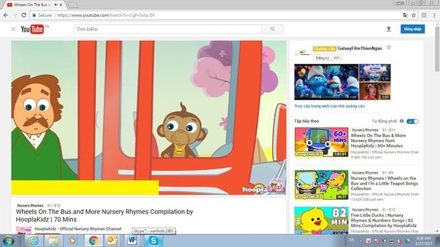 HooplaKidz là một trong những kênh dạy tiếng Anh được các bạn nhỏ rất yêu thích.