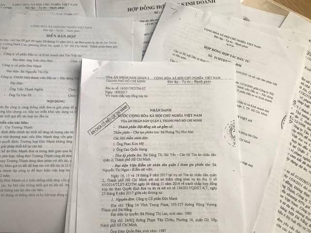 Bản án sơ thẩm của TAND quận 2.