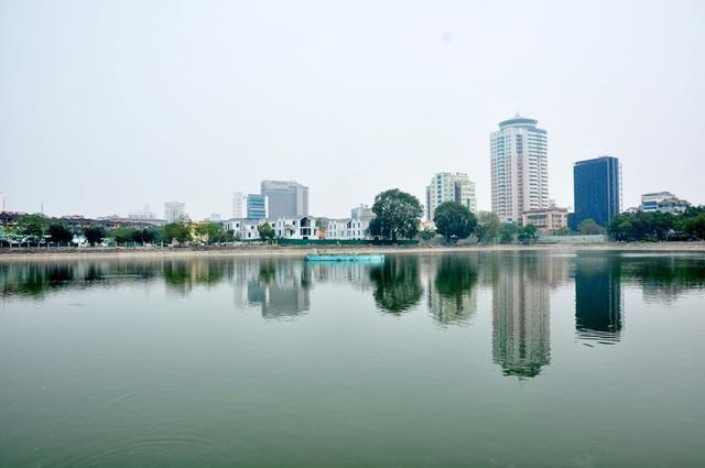 Toàn cảnh hồ Thành Công trước đề xuất cho lấp để xây nhà - 8