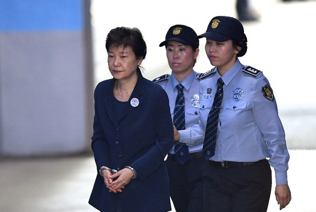 Cựu Tổng thống Park Geun-hye vẫn đang bị giam giữ chờ xét xử (Ảnh: AFP)
