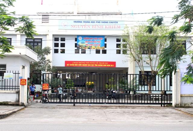 Khai mạc kỳ thi tuyển viên chức ngành giáo dục sáng 22/2 tại trường THPT Nguyễn Bỉnh Khiêm