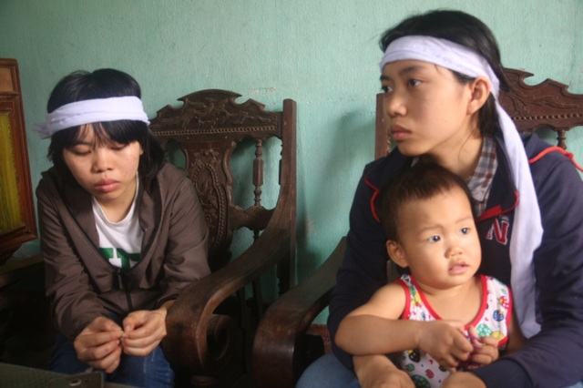 Ba chị em Sáng hiện đã được cấp đất tại xã Cẩm Nhượng