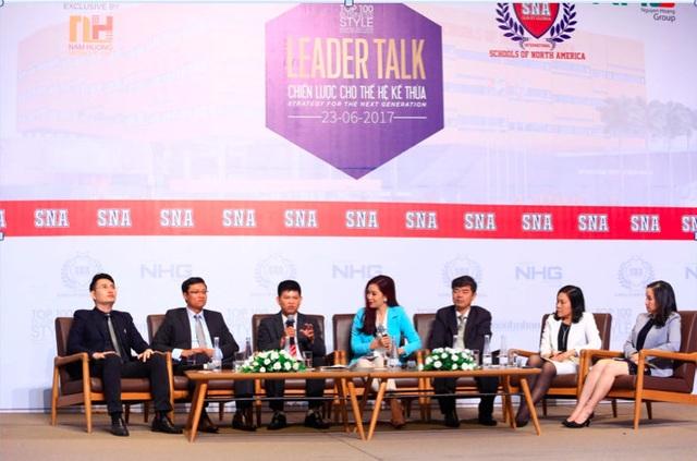 Các diễn giả tại talkshow Chiến lược cho thế hệ kế thừa