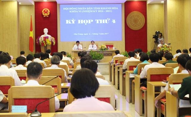 Kỳ họp thứ 4, HĐND tỉnh Khánh Hòa khóa VI (2016-2021), ngày 6-7/7