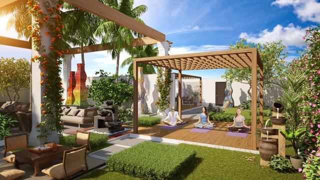 4 tòa căn hộ Sapphire với 4 khu vườn trên mây Sky Garden mang lại những trải nghiệm độc đáo