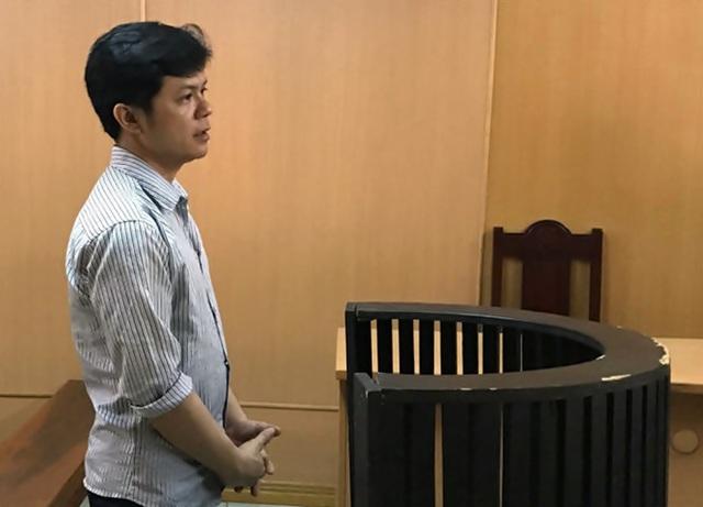 Bị cáo Lương tại phiên tòa.