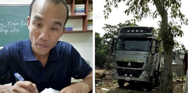 Đối tượng Nguyễn Quang Phương cùng chiếc xe dùng để chiếm đoạt tài sản