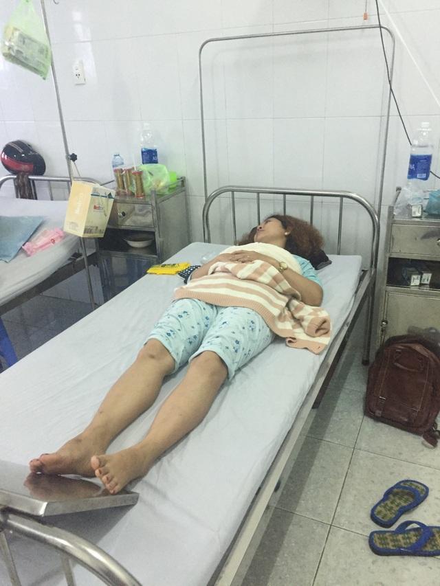 Chị H. tố bị chồng đánh phải nằm điều trị tại bệnh viện