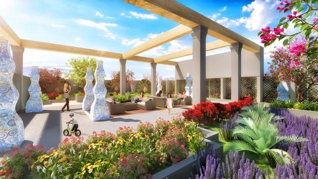Vườn Hương đầy lãng mạn với những khóm hoa đầy màu sắc.