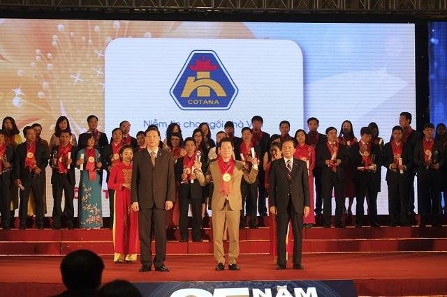 """Công ty CP Đầu tư và xây dựng Thành Nam (Cotana Group) là một trong số ít doanh nghiệp 12 năm liên tiếp đoạt giải """"Thương hiệu mạnh Việt Nam"""""""