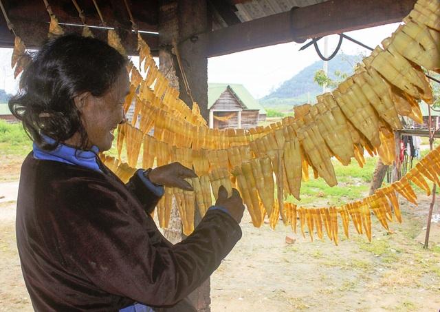 Sản phẩm măng le An Cát Lợi được lấy từ nguồn nguyên liệu tự nhiên ở vùng Kbang