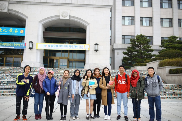 Thực tập sinh của Viện Đại học Mở Hà Nội đại học Sunmoon – Hàn Quốc