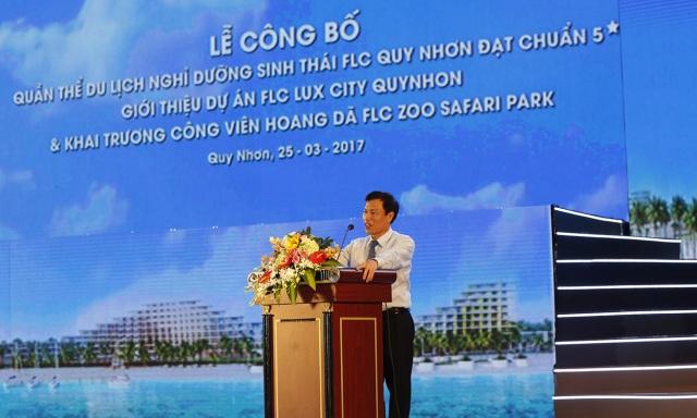 Ông Nguyễn Ngọc Thiện - Ủy viên Ban chấp hành Trung ương Đảng,  Bộ trưởng Bộ Văn hóa, Thể thao & Du lịch phát biểu trong sự kiện