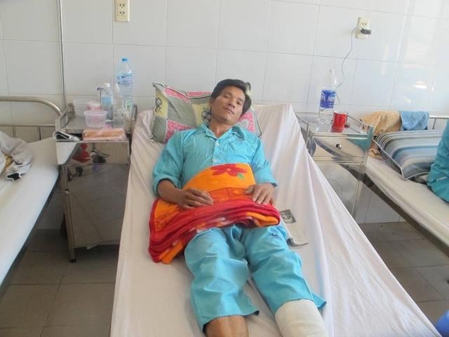 Anh Thành cũng đang được điều trị tại Bệnh viện Đà Nẵng
