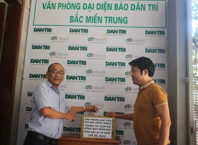 Ông Nguyễn Văn Đơ (trú tại đường Nguyễn Trung Thiên, phường Tân Giang, TP Hà Tĩnh) tham gia ủng hộ 2 triệu đồng giúp người dân miền núi bị lũ quét