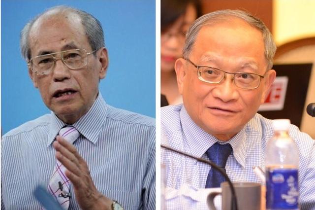 Chuyên gia kinh tế: TS Lưu Bích Hồ (trái) và TS Lê Đăng Doanh (phải)