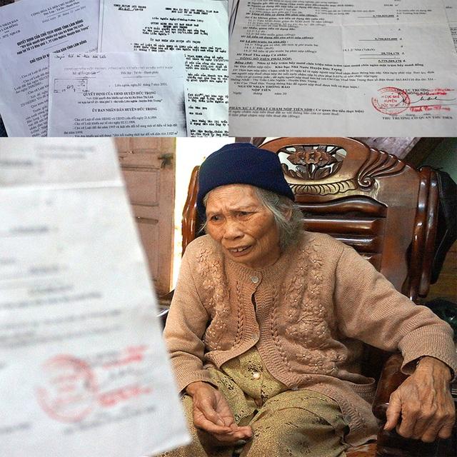 Tấm phiếu áp thuế 5,7 tỷ đồng khiến cụ bà 75 tuổi tuyệt vọng.