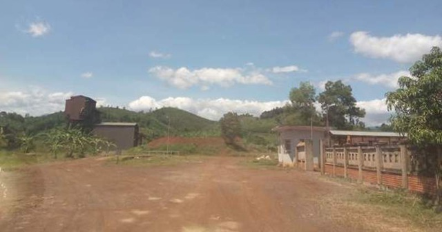 Một góc nhà máy tuyển quặng sắt Vũ Quang