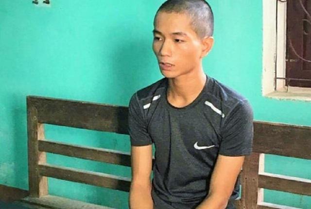 Đối tượng Tuấn bị bắt giữ.