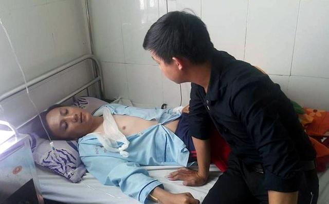 Trung úy Tuấn đang điều trị tại Bệnh viện