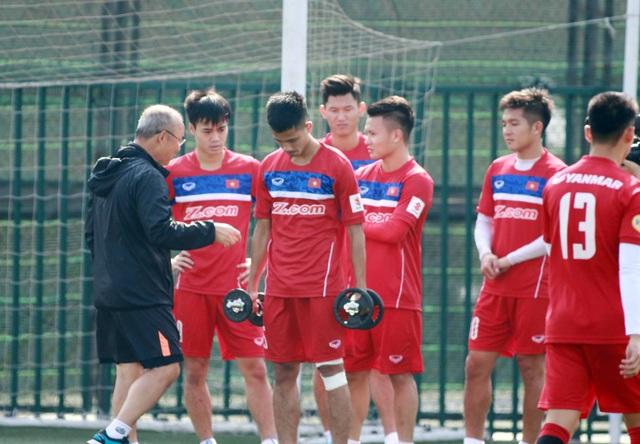 HLV Park Hang Seo chốt danh sách dự giải giao hữu tại Thái Lan - Ảnh: Gia Hưng