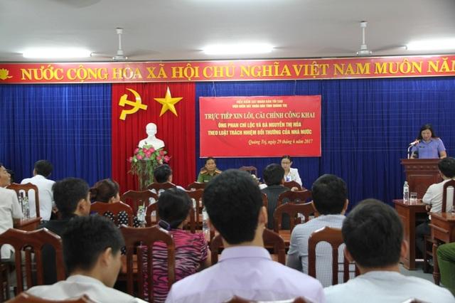 Đại diện Viện KSND tỉnh khẳng định đã truy tố, bắt giam ông Lộc khi không đủ căn cứ
