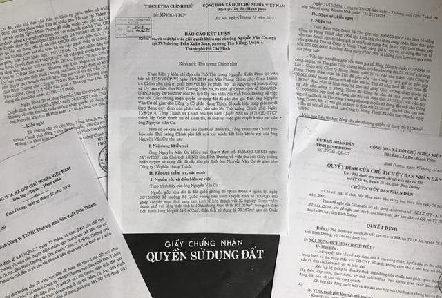 Thanh tra Chính phủ có báo cáo Kết luận số 3104/BC-TTCP ngày 19/12/2014 chỉ ra những vấn đề vi phạm liên quan tới việc thu hồi GCNQSDĐ của bà Thu.