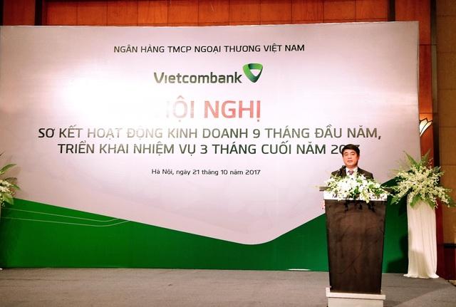Chủ tịch HĐQT Vietcombank Nghiêm Xuân Thành phát biểu chỉ đạo Hội nghị