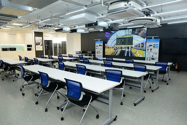 Phòng Đào tạo: Một trong những phòng đào tạo lớn nhất khu vực Đông Nam Á, chuyên đào tạo các kỹ năng thực hành, kiến thức liên quan đến việc tư vấn và ứng dụng các giải pháp thông minh cho doanh nghiệp.