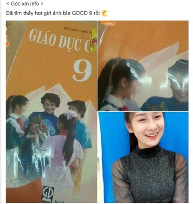 Nguyễn Kim Chi bị nhầm là học sinh trên bìa sách Giáo dục Công dân lớp 9