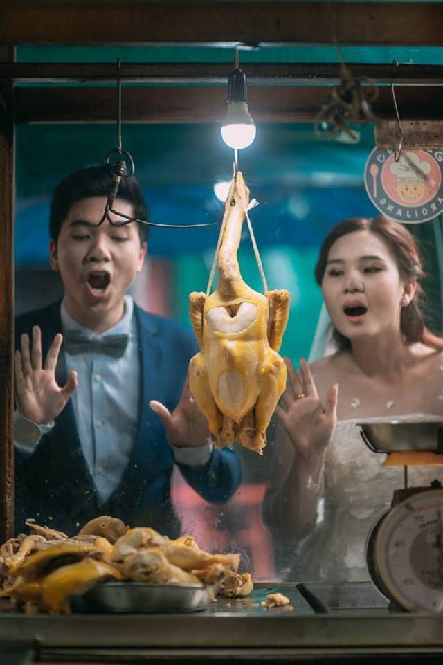 """Hài hước bộ ảnh cưới """"mê ẩm thực"""" của cặp đôi Thái Lan - 2"""