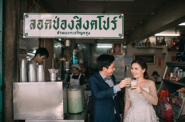 """Hài hước bộ ảnh cưới """"mê ẩm thực"""" của cặp đôi Thái Lan - 17"""