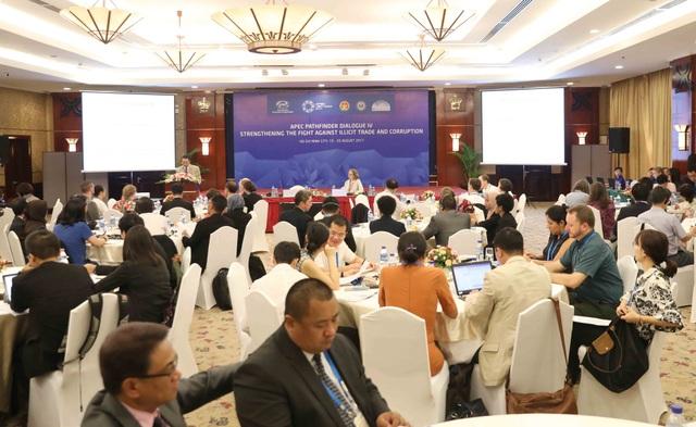 Quang cảnh Đối thoại APEC về chống tham nhũng và buôn lậu của Nhóm công tác về chống tham nhũng và minh bạch hóa (ACTWG) tại thành phố Hồ Chí Minh từ ngày 19-20/8.