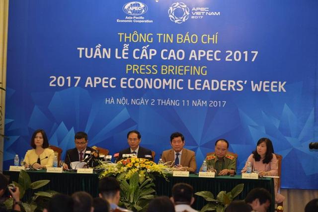 Ủy ban APEC quốc gia công bố thông tin báo chí về Tuần lễ cấp cao APEC sắp diễn ra tại Đà Nẵng, sáng 2/11