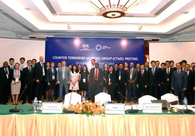 Cuộc họp về Nhóm Công tác Chống Khủng bố (CTWG) diễn ra tại thành phố Hồ Chí Minh trong 2 ngày 18-19/8 với nhiều đại biểu tham gia.