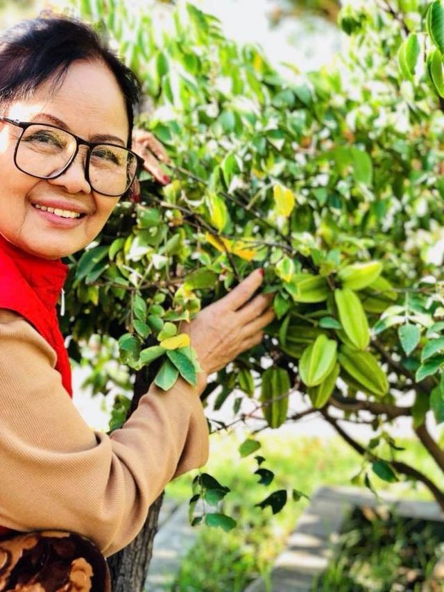 Khu vườn lúc lỉu cây trái với rất nhiều những loại quả thuần Việt như: khế, ổi, bưởi, táo,…