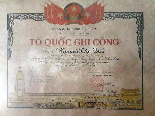 Con gái của liệt sỹ Nguyễn Văn Hồng hy sinh trong Kháng chiến chống Mỹ cứu nước