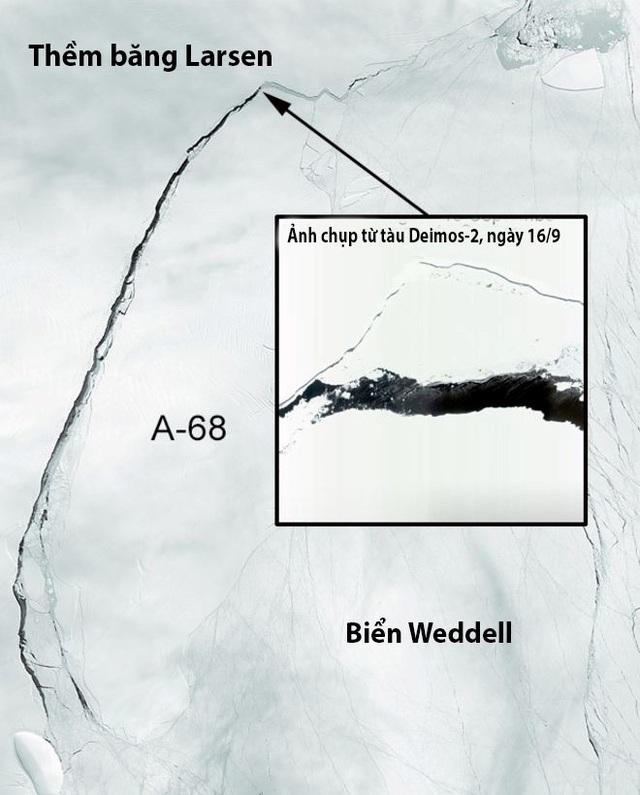 Theo nhiều dự đoán, tảng băng đang tiến về biển Weddell.