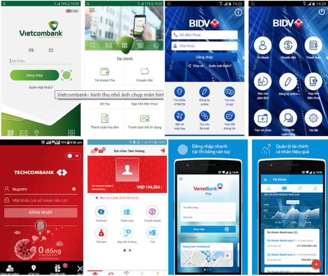 Các ứng dụng ngân hàng là mục tiêu của tin tặc hiện nay.