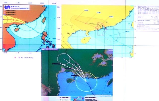 Dự báo quỹ đạo bão của bão số 7 của các trung tâm dự báo quốc tế.