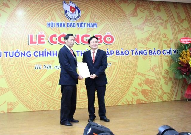 Lễ công bố Quyết định của Thủ tướng Chính phủ về việc thành lập Bảo tàng Báo chí Việt Nam diễn ra sáng 16/8 tại Hà Nội.