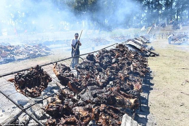 Hơn 16,5 tấn thịt bò chất lượng cao được sử dụng trong bữa tiệc này