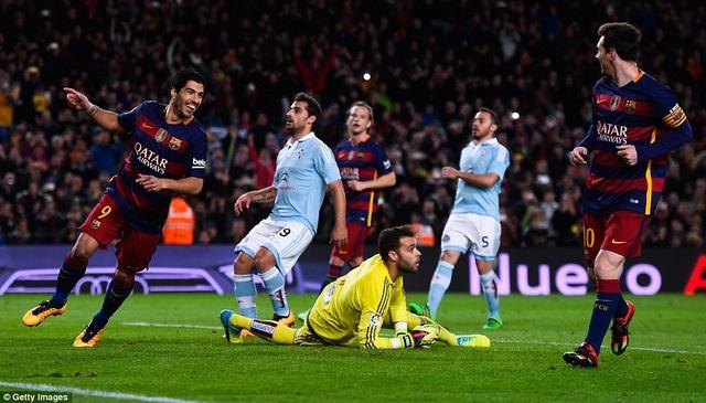 Luis Suarez từng lập hattrick vào lưới Cleta Vigo ở Nou Camp năm ngoái