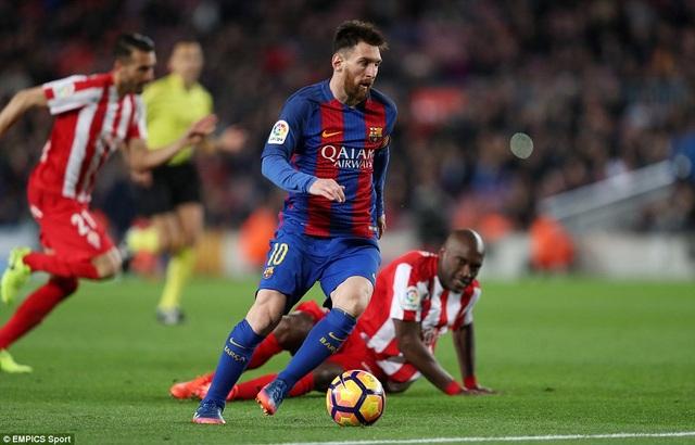 Messi ghi bàn trong cả ba trận đấu gần đây nhất cho Barcleona