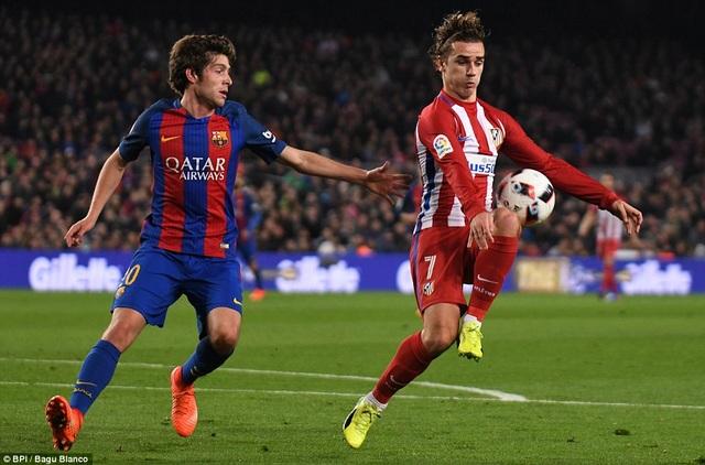 Hàng thủ Barcelona cần dè chừng Griezmann
