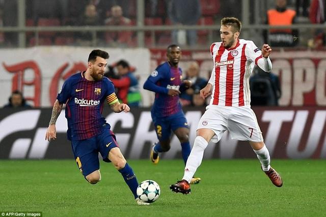Messi đã có một trận đấu khá thất vọng