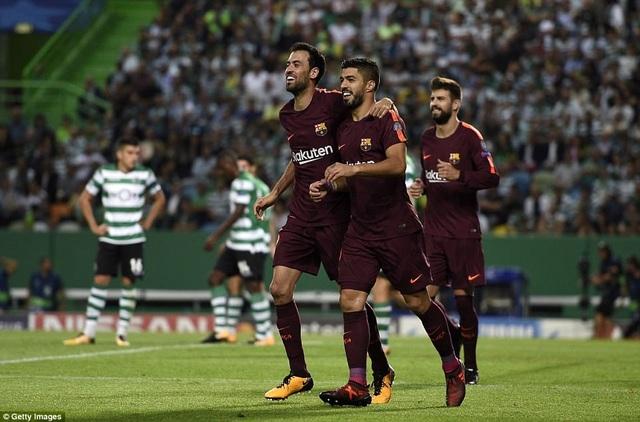Barcelona giành 3 điểm nhọc nhằn trên đất Bồ Đào Nha