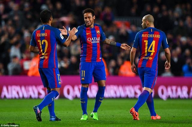 Barcelona vươn lên dẫn đầu La Liga với 57 điểm, hơn Real Madrid 1 điểm