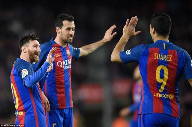 Niềm vui của các ngôi sao bên phía Barcelona