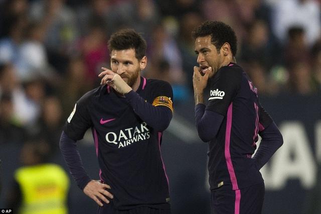 Messi và Neymar bất lực trước hàng thủ có tổ chức của Malaga